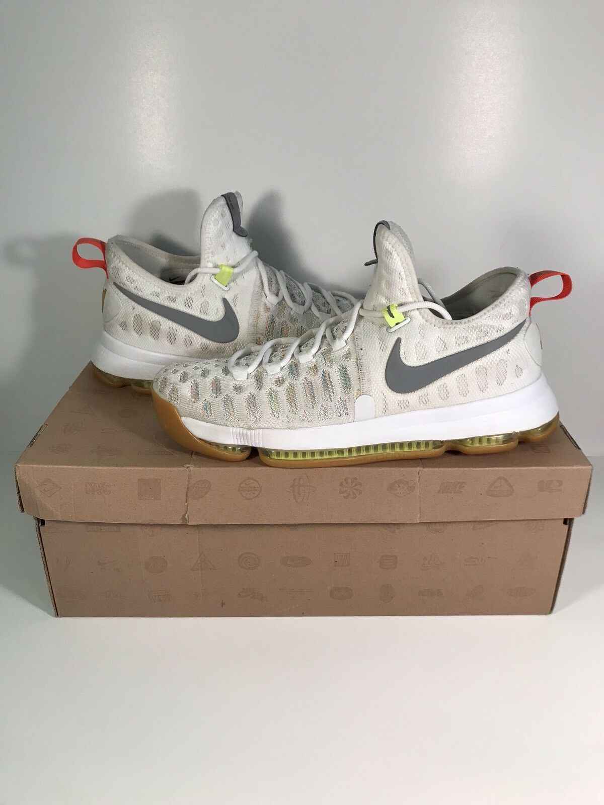 NIKE KD 9 MULTI COLOR STEAL OF A PRICE WHITE GUM BOTTOM