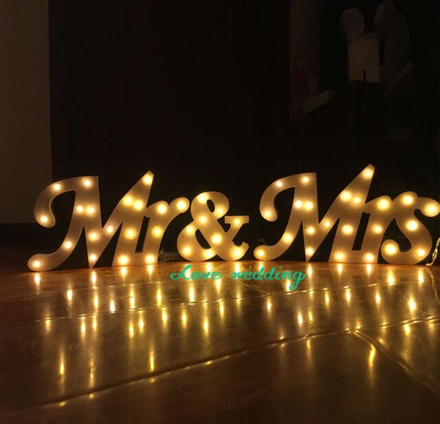 Led Wooden Letters Light Mr Mrs Batteries Operated Led Sign Light Up Letter