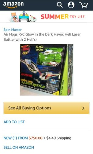 Air Hogs havoc heli laser battle