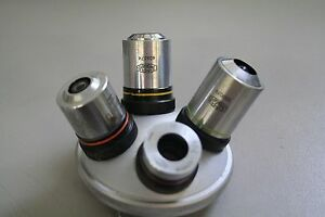 Olympus-Microscope-Turret-with-Neo-5-10-20-40-objectives