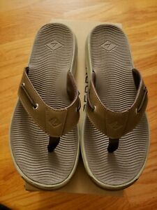 NEW-MENS-SPERRY-TOPSIDER-FLIP-FLOP-Warwick-THONG-MENS-SIZE-10-tan