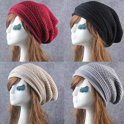 0c8cba079 Vogue Knit Winter Warm Women Men Hip-Hop Beanie Hat Baggy Unisex Ski Skull  Cap | eBay