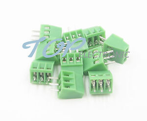10PCS KF120-3P 3 Pin Plug-in Screw Terminal Block Connector 2.54mm Pitch
