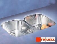 FRANKE RGX120 Regatta Double Bowl Stainless Steel Kitchen Sink Undermount 35x22