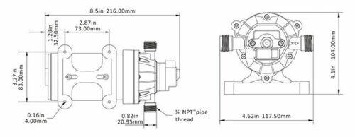 12V 1.6 GPM 100 PSI SEAFLO 34-Series Water Pressure Diaphragm Pump 4 Yr warranty