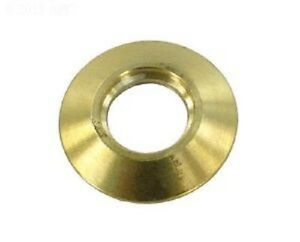 Merlin swimming pool safety winter cover brass anchor flange cap cover only ebay for Swimming pool winter cover anchors