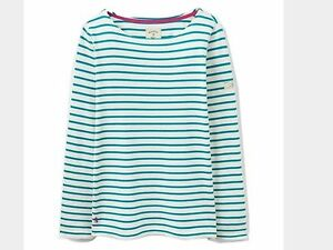 Joules-Harbour-Teal-Stripe-Size-16