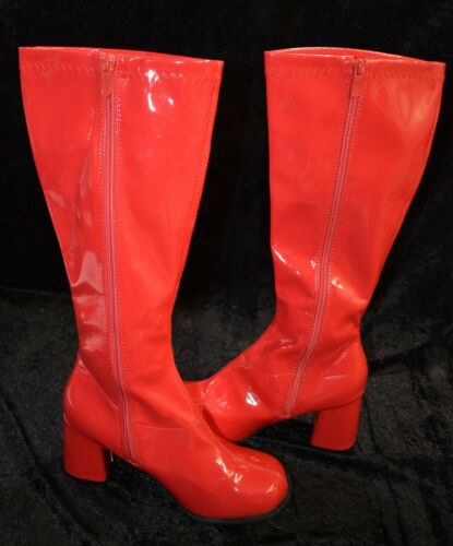Ellie Red Gogo Boots, Adult Size 8