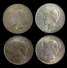 (4) 1922 & 1923 Silver Peace Dollar Coins Lot 1202