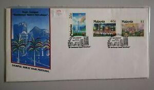 FDC-Malaysia-1990-KL-Bandaraya-Taman-Bercahaya-3v-Stamps-Cover