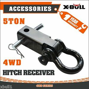 Recovery-Hitch-Receiver-5-Tonne-Rating-with-Bow-Shackle-Tow-Bar-Off-Road-4WD