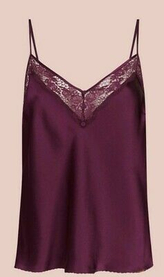 M/&S Rosie for Autograph Pure Silk Gold Camisole Size 10