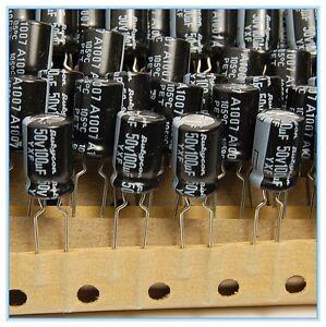 QTY 4.7uf 50V 105/' LONG LIFE LOW IMPEDANCE RADIAL ELECTROLYTIC 50YXF4R7M 100