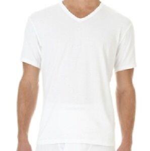 Calvin Klein $50 MEN 3 WHITES V-NECK Undershirt TOP SIZE S SLIM FIT SALE P07