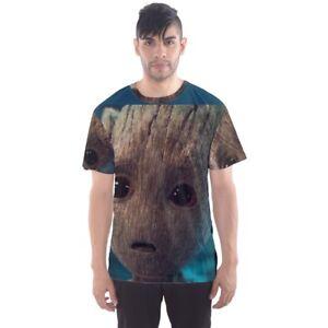 Je-suis-Bebe-Groot-sublimee-de-Sport-Hommes-Mesh-Tee-T-Shirt-Taille-S-3XL-livraison-gratuite