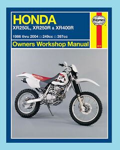 man2219 haynes manual for honda xr xr250 1986 24 xr4001996 04 ebay rh ebay co uk Honda 650 Honda 70