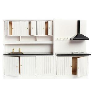 1-12-Dollhouse-Miniature-Furniture-Wooden-Kitchen-Set-D2A4