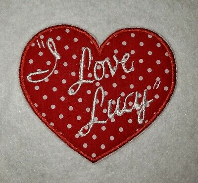 """/""""Love/"""" Text Iron On Applique Patch Embroidered Yellow Heart Small 1.5/""""W"""