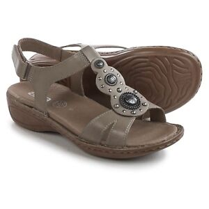 Details about Ara Womens Hudson Wedge Slingback Leather Sandals