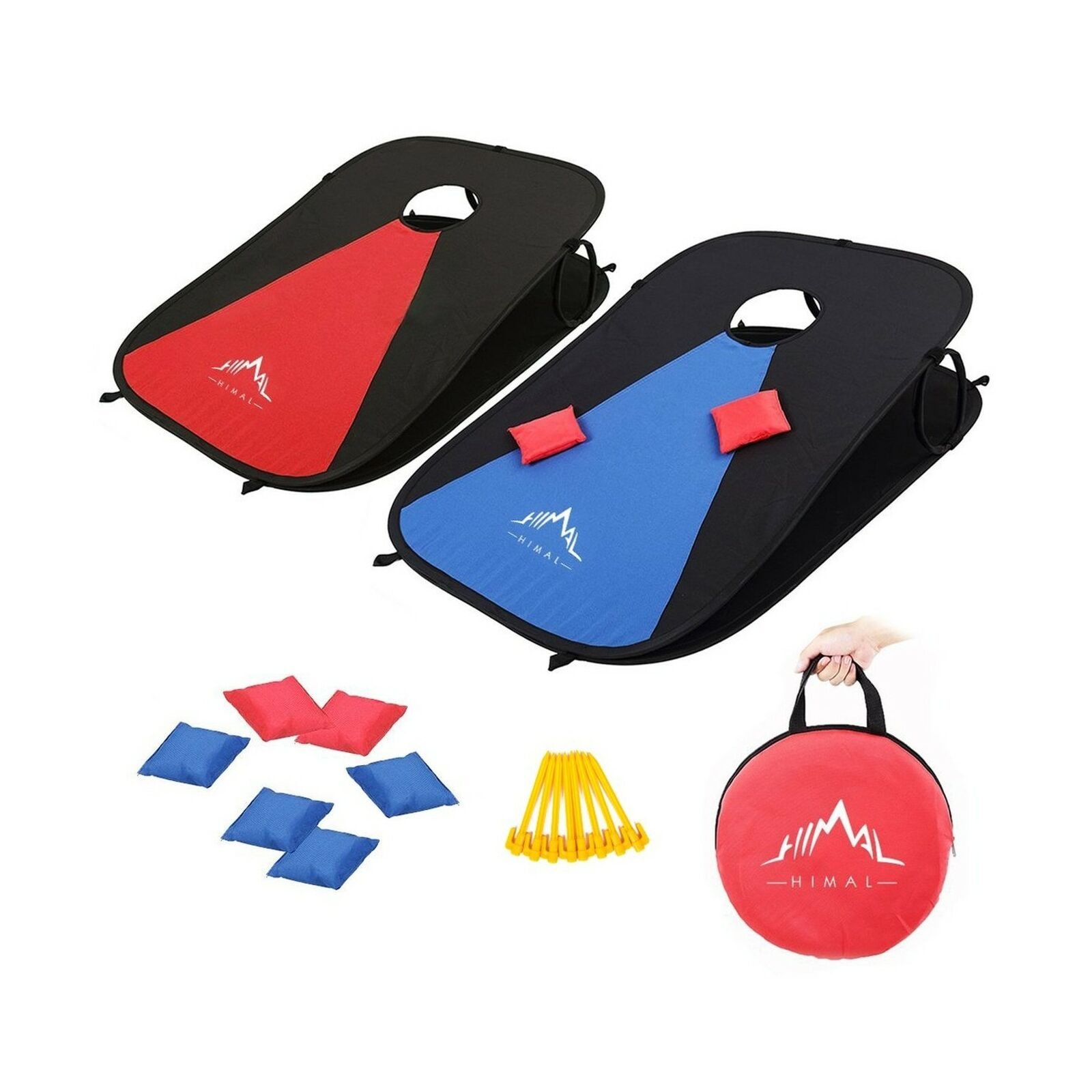 3 x 2 Collapsible Portable Target with 8 Bean Bags for Indoor and Outdoor Play Sea World Kids Tic-Tac-Toe Corn-Hole Board for Boys and Girls MOOCY Cornhole Bean Bag Toss Game