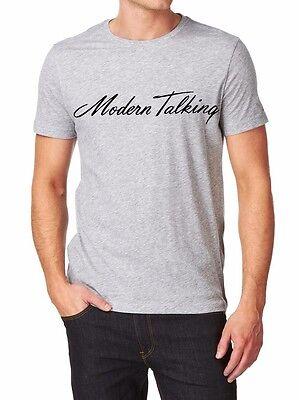 Modern Talking Logo T-shirt Men Shirt  print by EPSON S-XXL white grey