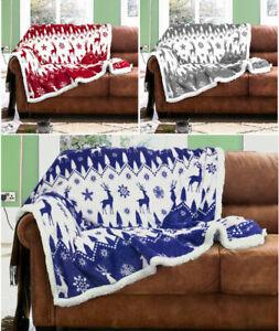 Sherpa-Throws-Blanket-Fairisle-Flannel-Fleece-Luxury-Sofa-Bed-Large-Soft-Warm