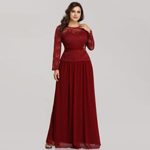 Details about Ever-Pretty Womans Lace Plus Size Long Evening Party Dress  Prom Dress Ball Gowns 161167fdc