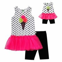 Dollie Me Sz 7-14 And 18 Doll Matching Dress Outfit Clothes Fit American Girl