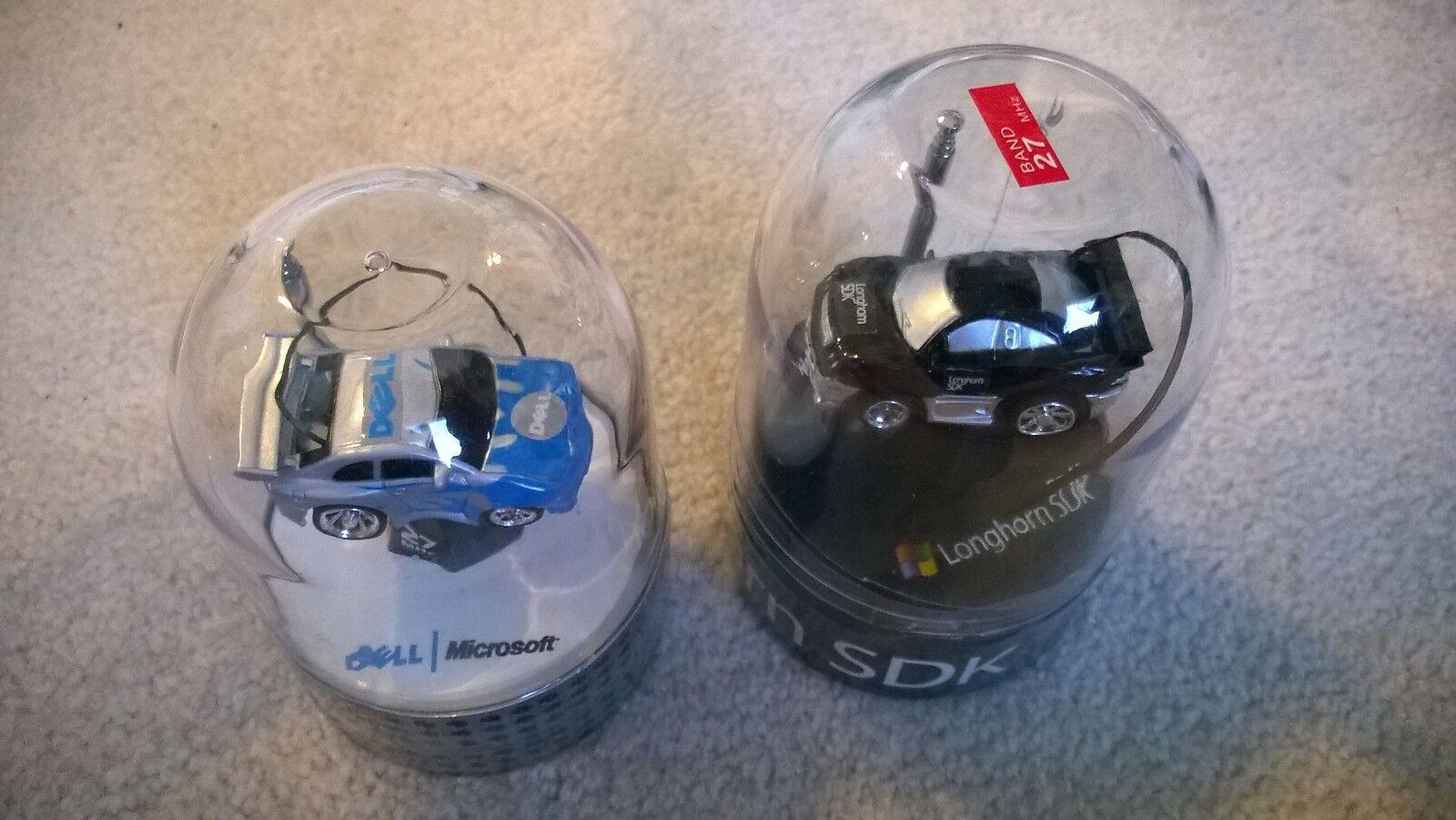 NEW -  2 HO scale Radio Control Cars - dell - Microsoft promotion - EA0-9000