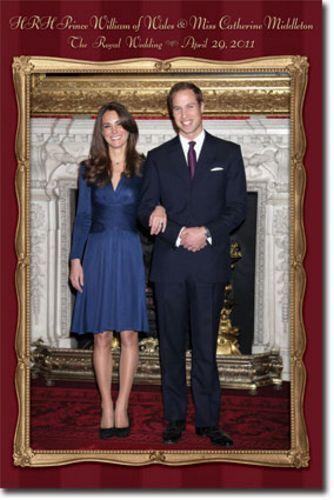 POSTER The Royal Wedding Prince William Kate Middleton