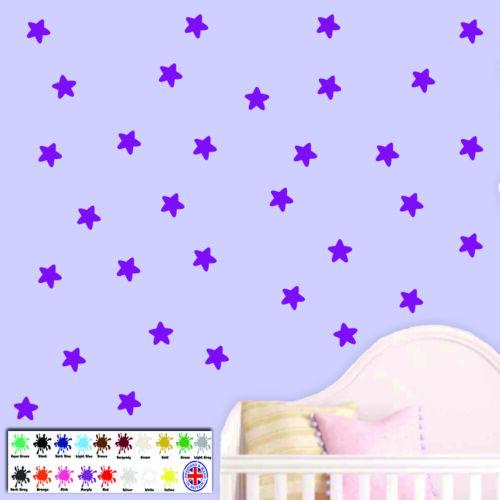 decals multi pack sizes 18 colours Stars wall sticker children/'s wallart