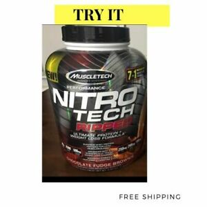 Muscletech, Nitro Tech Ripped Ultimate Protein + Weight Loss Chocolate 4 lbs