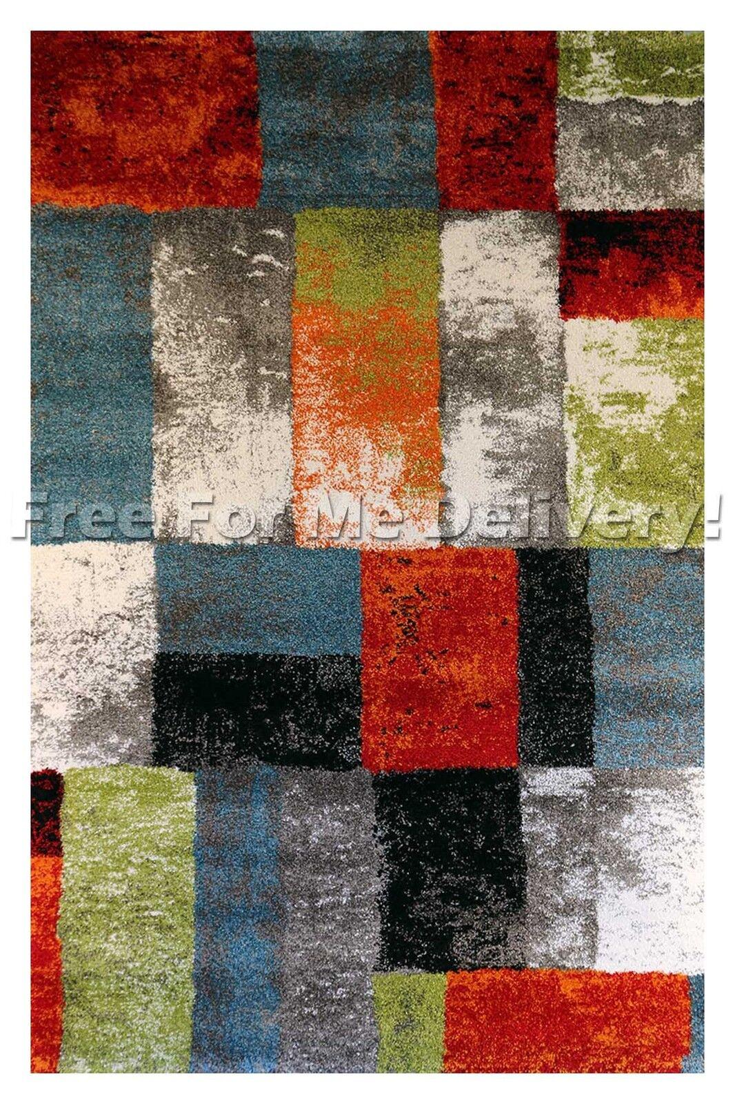 BOCA GRUNGE STYLE MULTI MODERN FLOOR RUG (XS) 80x150cm FREE DELIVERY