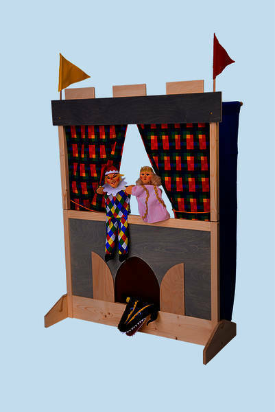 Guiñol castillo, muñecas escenario V. Kersa para kasper (nuevo) puppetstage 37023