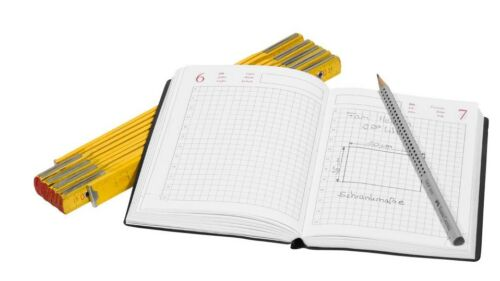 Lediberg Handwerkerkalender praktischer Kalender Handwerker kariert ohne Jahr *