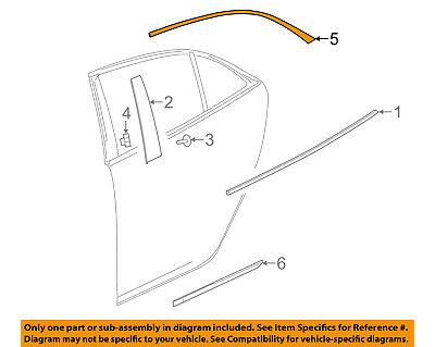Chevrolet GM OEM 13-16 Malibu Exterior-Rear-Reveal Molding Left 23176657