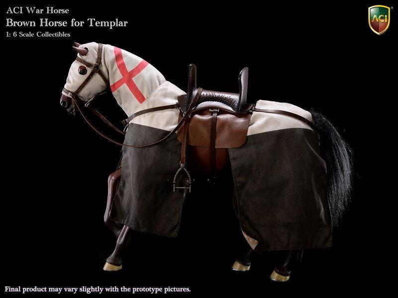 ACI TOYS ACIH02 Braun Horse w/ Saddle Set for Templar 1/6 Figure New IN Box