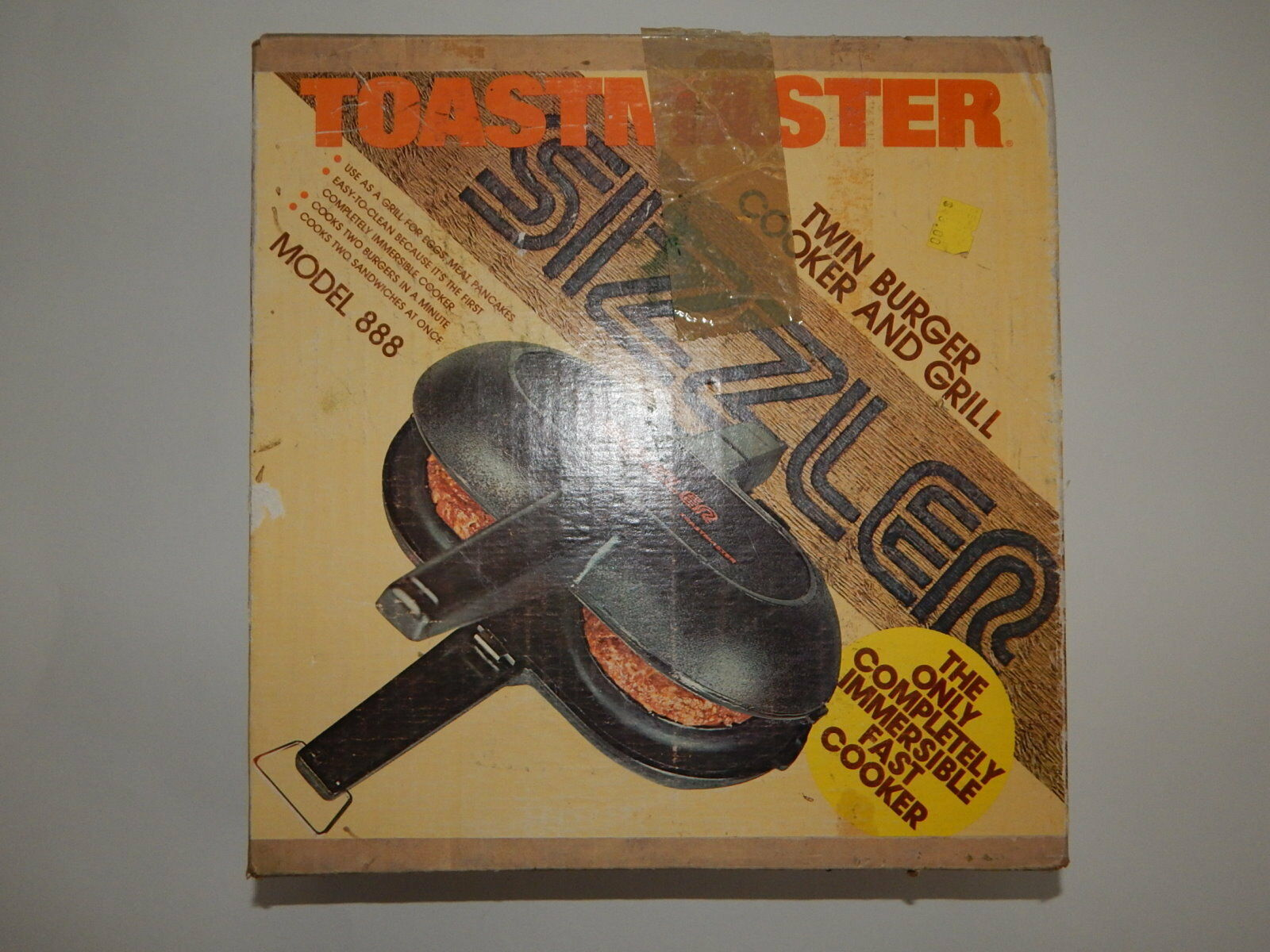Toastmaster Sizzler Model 888 In Box Complete  R18373