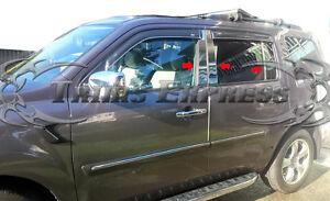 2009-2015-Honda-Pilot-6Pc-Chrome-Pillar-Post-Trim-Stainless-Steel-Door-Cover