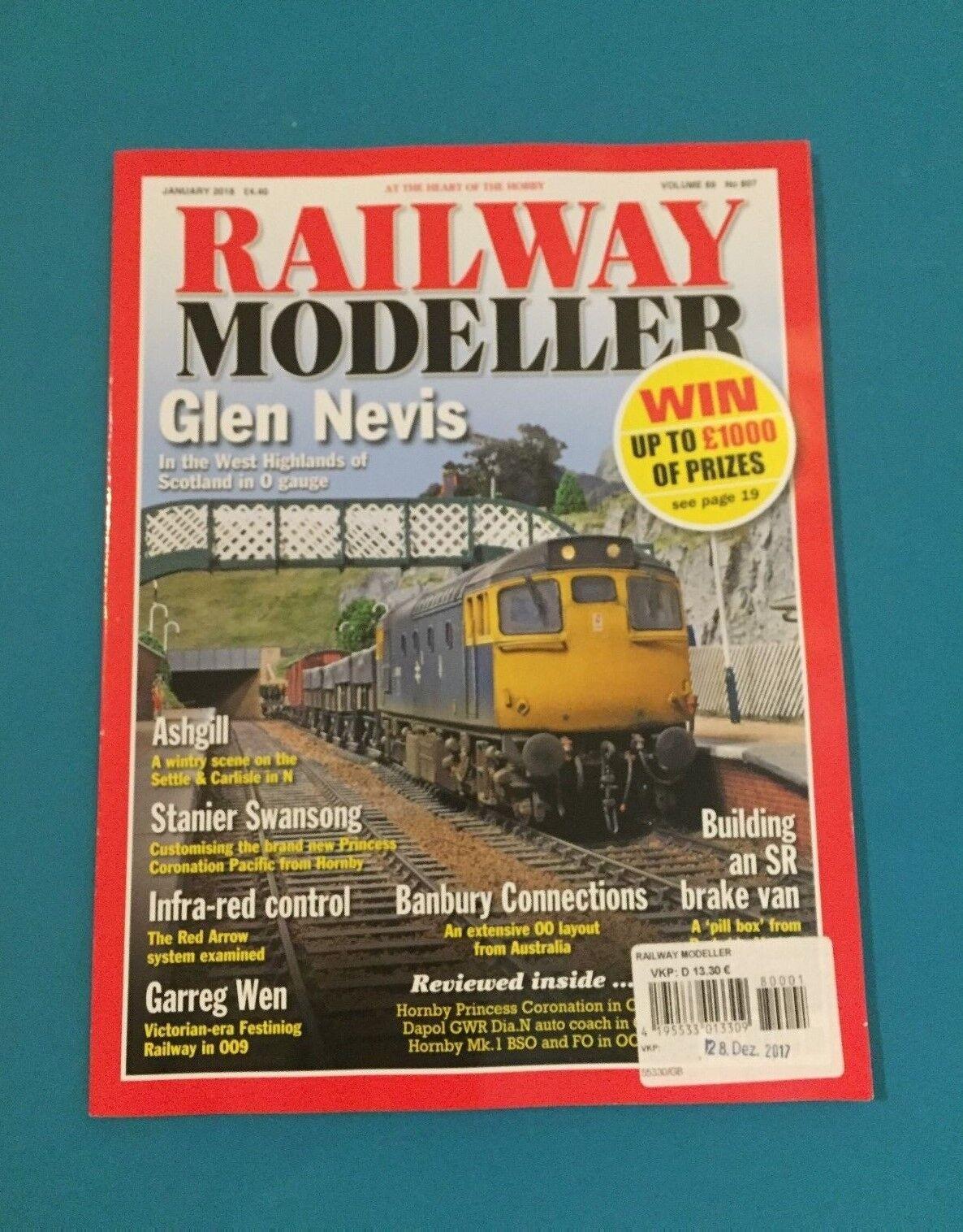 Railway Modeller January 2018 Vol. 69 No.807 english ungelesen 1A absolut TOP