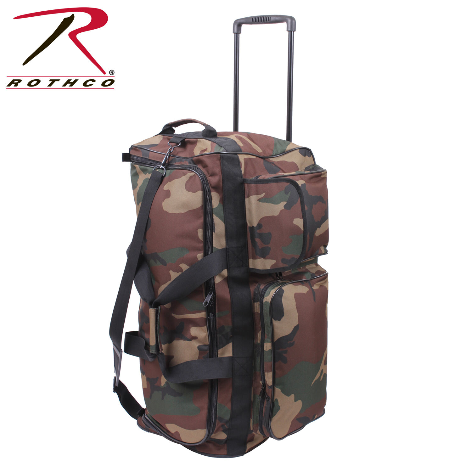 Army camouflage Trolley Outdoor US woodland camouflage Army Reisetasche Tasche Travel Bag 111abc