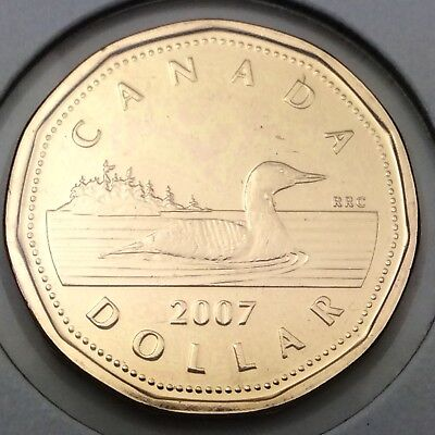 CANADA 2007 LOONIE BRILLIANT UNCIRCULATED DOLLAR COIN