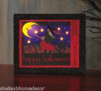 Halloween Witch On Broom Witch Way Stamp Lighted Picture By Radiance X46997