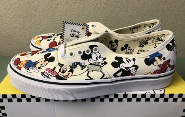 b0b3f4e32a Vans Authentic Disney Mickeys Birthday 90th Anniversary Mens Sz 9 True White  NEW