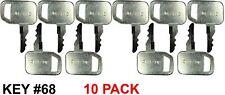 Fits Jds John Deere Skid Steer Key 10 Pack