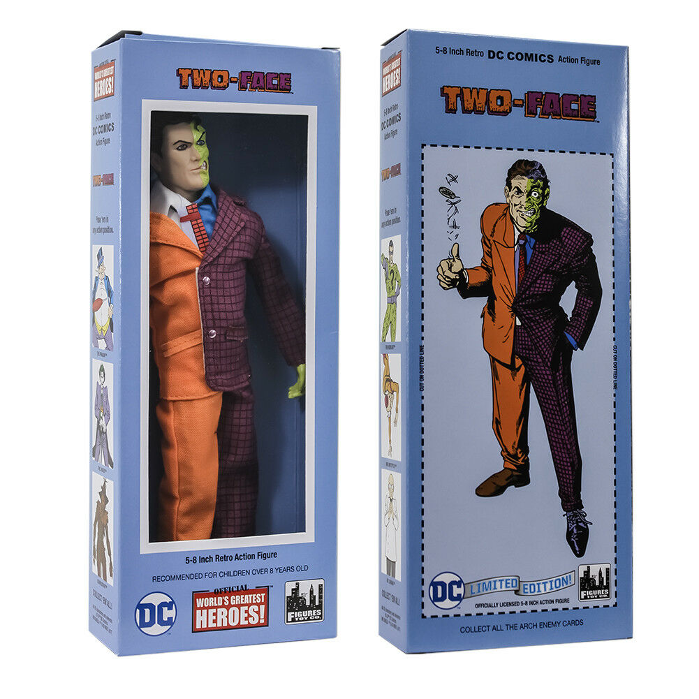DC Comics Retro Style Boxed 8 Inch Action Figures  Two-Face