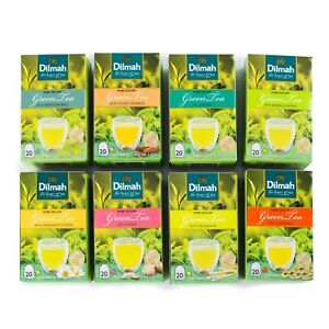 Pure-Natural-CEYLON-GREEN-TEA-with-Ginger-cinnamon-jasmine-mint-DILMAH