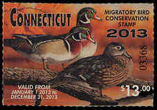 CONNECTICUT #20 2013 STATE DUCK  STAMP WOOD DUCK by Richard Clifton