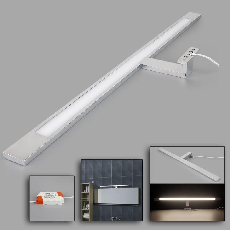 12W LED Badleuchte Spiegelleuchte,1100lm Neutralweiß 60cmm verchromt