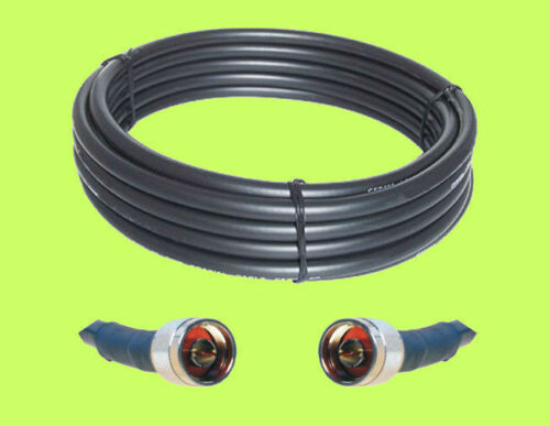 30ft RFC400 Times LMR400 Compatible 50 Ohm Antenna Coax Cable N Male Connectors